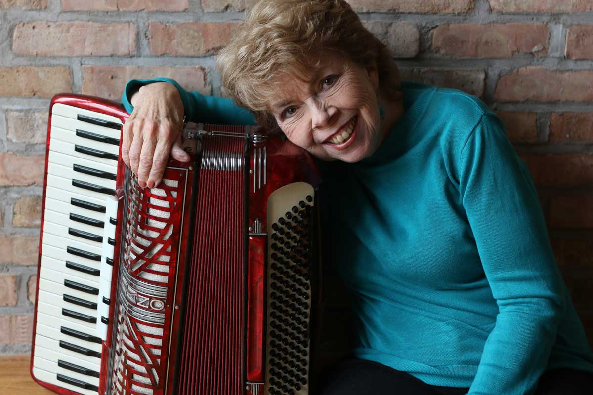 Mary Ellen and her accordian