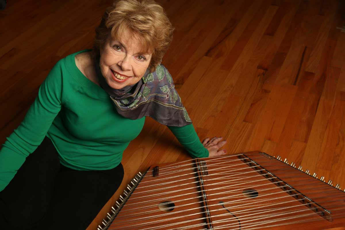 Mary Ellen and her Hammered Dulcimer